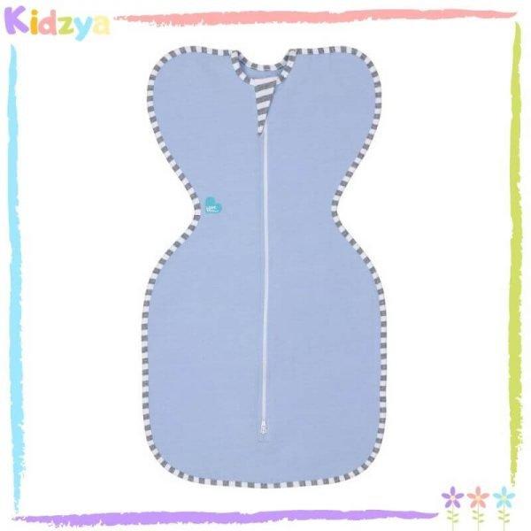 Baby Blue Zipper Swaddle