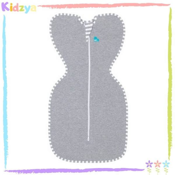 Baby Grey Zipper Swaddle