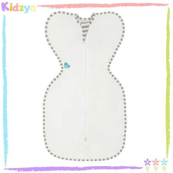 Baby White Zipper Swaddle
