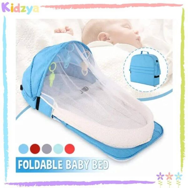 Blue Portable Baby Crib