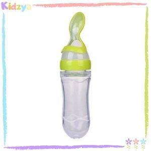 Green Bottle Spoon Feeder For Babies