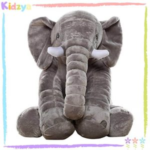 Grey Cute Elephant Pillow For Babies