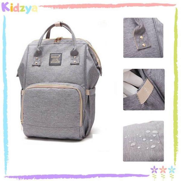 Grey Diaper Storage Backpack For Babies Online In Pakistan