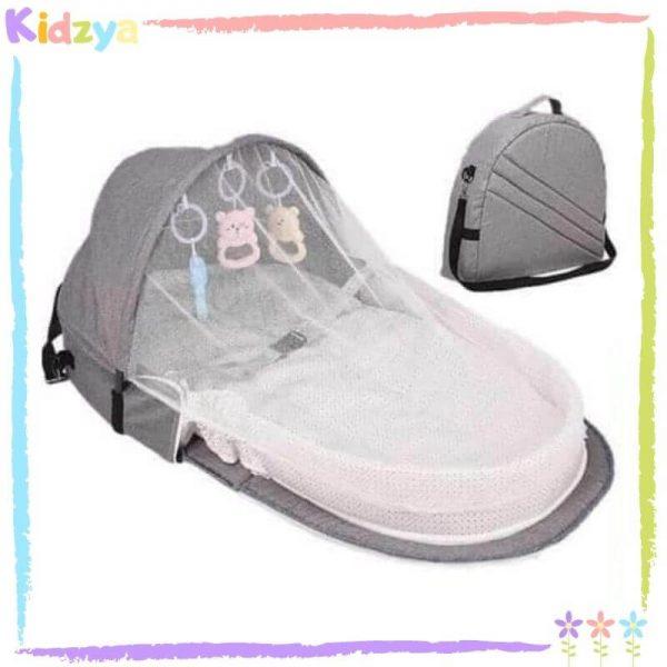Grey Portable Baby Crib Best Price Online In Pakistan