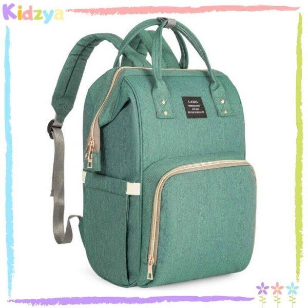 Lightgreen Diaper Storage Backpack For Babies