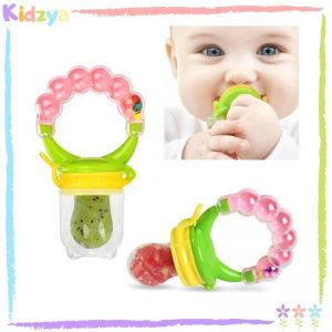 Pink Rattle Fruit Pacifier For Babies
