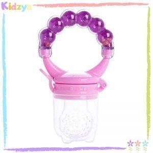 Purple Rattle Fruit Pacifier For Babies