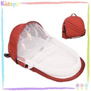 Red Portable Baby Crib