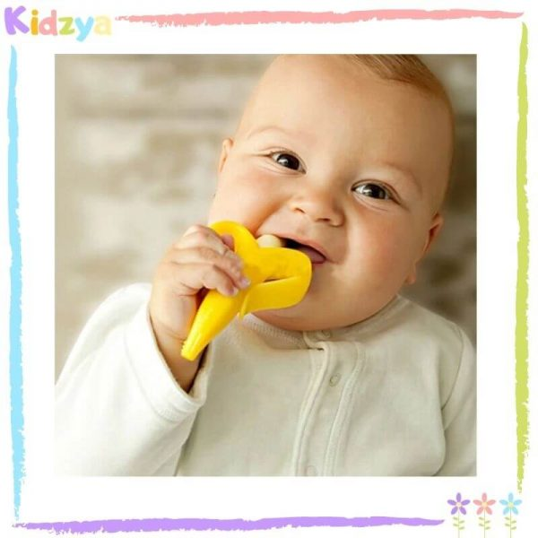 Silicone Baby Banana Teether - Yellow Price In Pakistan
