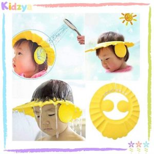 Yellow Baby Shower Cap Eye & Ear Protector Online In Pakistan
