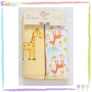 Yellow Hooded Towel w 4pcs Washcloths Set For Babies
